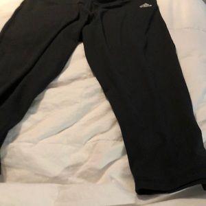 Ladies black Adidas workout pants large